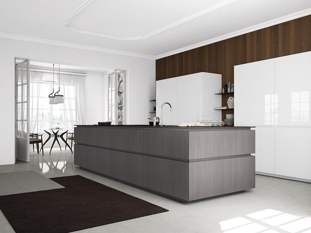 Project studio italiaanse design keukens comprex - Cocinas con isla central fotos ...